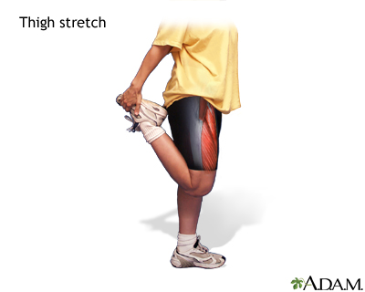 Thigh stretch